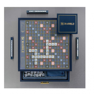 Buy NEW Scrabble  LUX Edition ~ Black Gold Blue Limited Edition