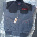 Buy NEW Snap On ToolS Mens Insulated Black W/Grey Winter Coat Zip Up Jacket