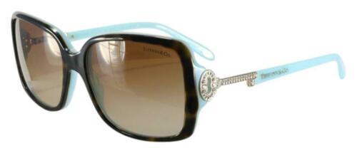 Buy NEW Tiffany Women 4043B 81343B Top Havana Blue Key Crystals Sunglasses Authentic