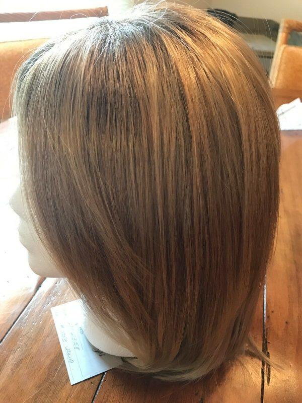 Buy NEW synthetic hair wig light brown w/ highlights, medium length, straight hair