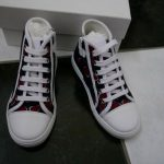 Buy NIB 100% AUTH Gucci Girl Heartbeat Print High Top Sneakers 311496