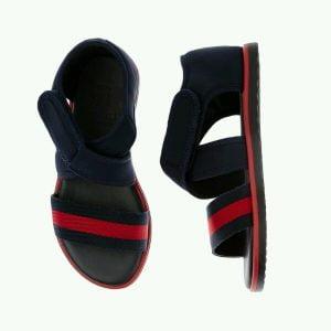 Buy NIB NEW Gucci boys kids navy blue red web strap sandals 20 4 21 5 371588