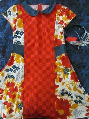 Buy NWT 10 Persnickity Isla Floral Fall Dress Matching Headband