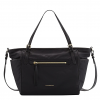 Buy NWT Burberry Leather-Trim Diaper Bag , + Changing pad , Black
