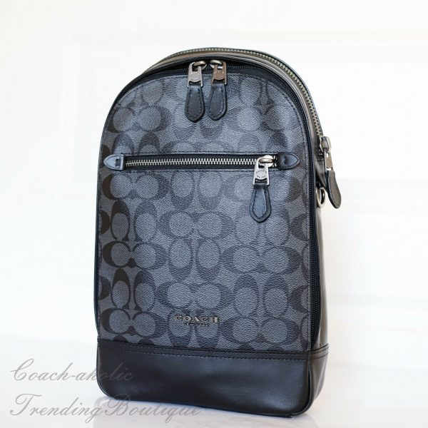 Buy NWT Coach F37573 Graham Pack in Signature Canvas in Smoke
