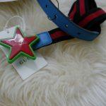 Buy NWT Gucci Kids Elastic Blue/Red/Blue Band Star buckle belt 455907