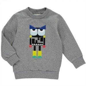 Buy NWT NEW Fendi Boys Gray robot monster graphic sweatshirt top 10y