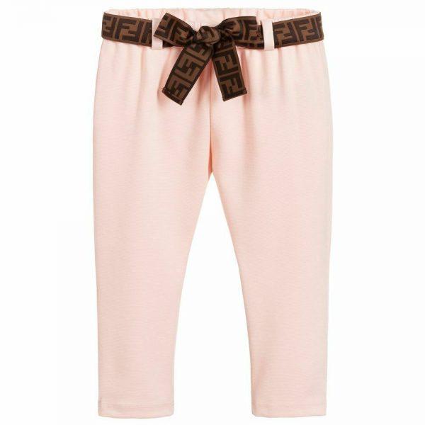 Buy NWT NEW Fendi baby Girls pink FF sash logo sweatshirt pants 3m