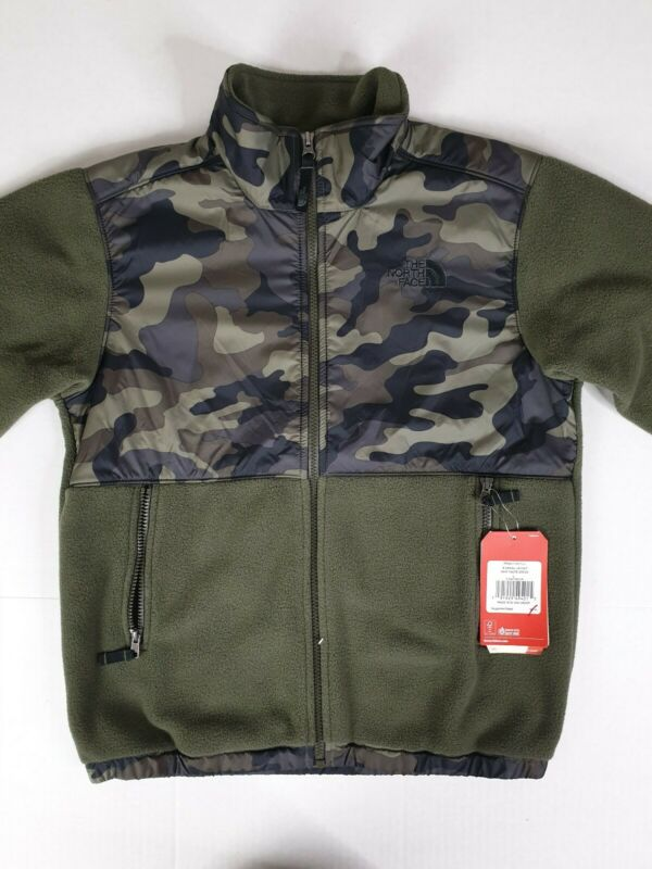 Buy NWT North Face Youth Boys Denali Warm Fleece Jacket, Size Large, Taupe Green