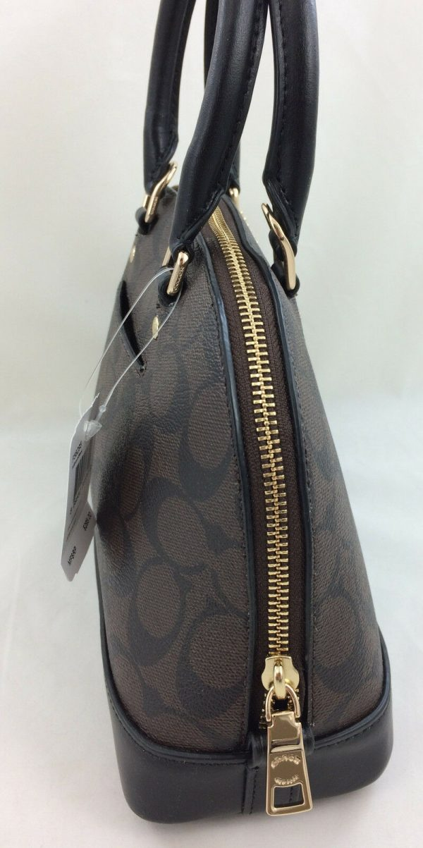 Buy New Authentic Coach F27583 mini Sierra Signature Satchel Purse Bag Brown/Black