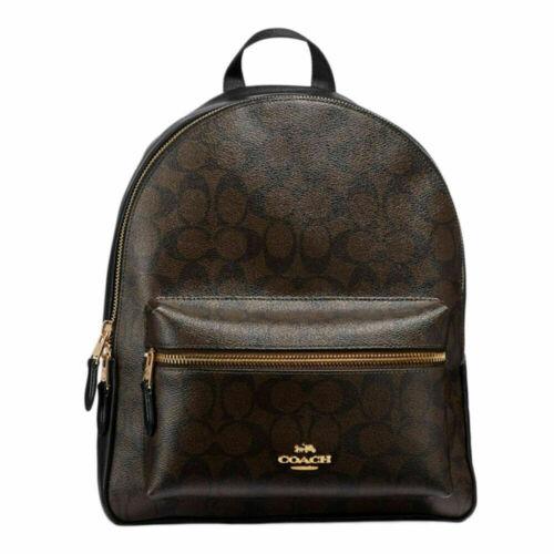 Buy New Authentic Coach F32200 Medium Charlie Backpack Shoulder Bag Brown Black