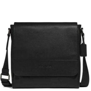Buy New Authentic Coach F68015 Houston Map Bag Crossbody/Shoulder Messenger Black