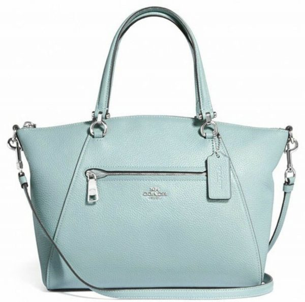 Buy New Authentic Coach F79997 Prairie  Satchel Crossbody Bag in Pebble Leather Sage