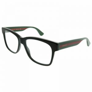 Buy New Authentic Gucci GG0342O 004 Black Plastic Square Eyeglasses 56mm
