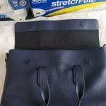 Buy New COACH F75757 Men's HAMILTON Brief Case Bag Pebbled Leather Cadet $450