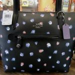 Buy New Coach 76383 Black Multi Vintage Rose Taylor Tote Satchel Purse $195