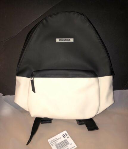 Buy New FOG Fear of God Essentials Waterproof Backpack Black White Deadstock W/ Tags