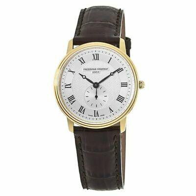 Buy New Frederique Constant Slimline Silver Dial Gold Men's Watch FC-235M4S5