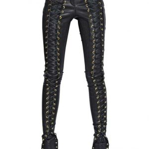 Buy New Genuine Lambskin Leather Skinny Pants Leggings Mid Rise  Women