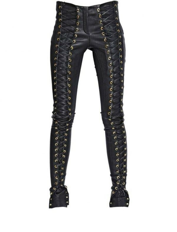 Buy New Genuine Lambskin Leather Skinny Pants Leggings Mid Rise  Women