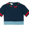 Buy New Gucci Kids Girls Baby Roundneck Sweatshirt Navy Size 18-24 Months Authentic