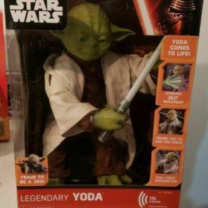 "Buy New In Box Disney Star Wars Legendary Yoda 16""Tall Spin Master Interactive Jedi"