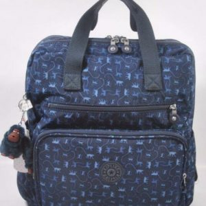 Buy New KIPLING Audrie Diaper Bag Backpack with Changing Pad - Monkey Mania Blue