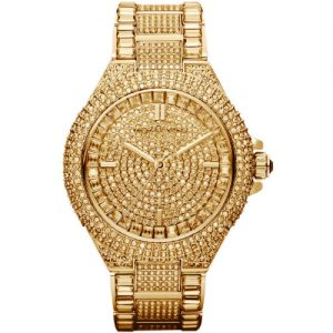 Buy New Michael Kors Camille Gold Pave Dial Crystal Encrusted MK5720 Women's Watch