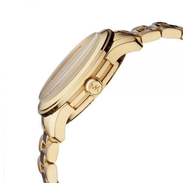 Buy New Michael Kors Runway Gold Pave Stainless Crystal Logo MK5706 Women's Watch