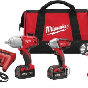 Buy New Milwaukee Impact Combo Kit Case Cordless Portable Compact Power Drill Tool