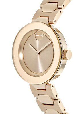 Buy New Movado Bold Rose Gold Tone Stainless Steel Women's Watch 3600387
