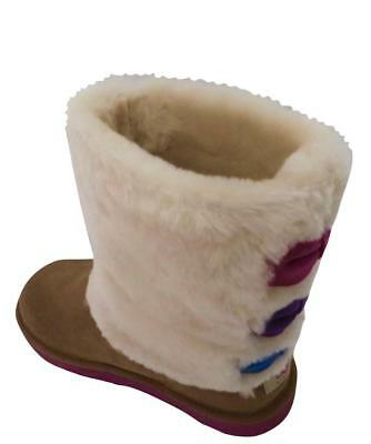 Buy New NIB Ugg Malena Chestnut Brown Pink Purple Blue Bows Youth Girls Boots RARE!