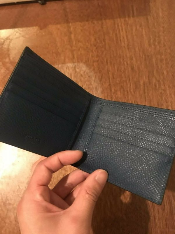 Buy New Prada Men's Bi-Fold Saffiano Leather Wallet