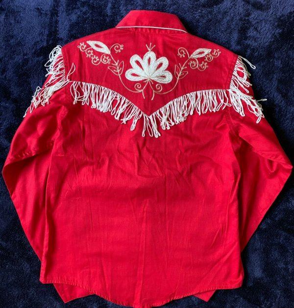 Buy New Rockmount Ranch Wear Western Wear Boy Girl Kid Red Fringe Rodeo Shirt Large