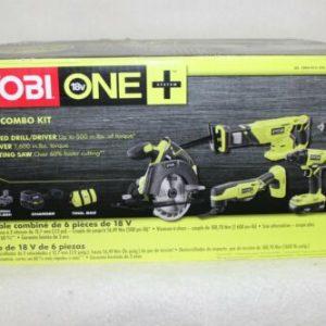 Buy New! Ryobi One+ 18V Lithium Ion 6 Piece Combo Kit Cordless P1819