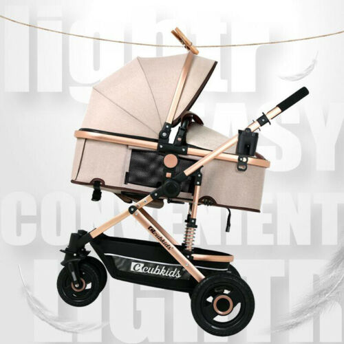 Buy Newborn Baby Stroller Pushchair W/ Infant Basket Car Seat Foldable Luxury Buggy