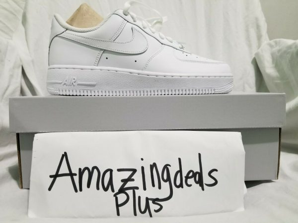 Buy Nike Air Force 1 07 LE Low All White 315115-112 Womens Wmns 100% Authentic AF1