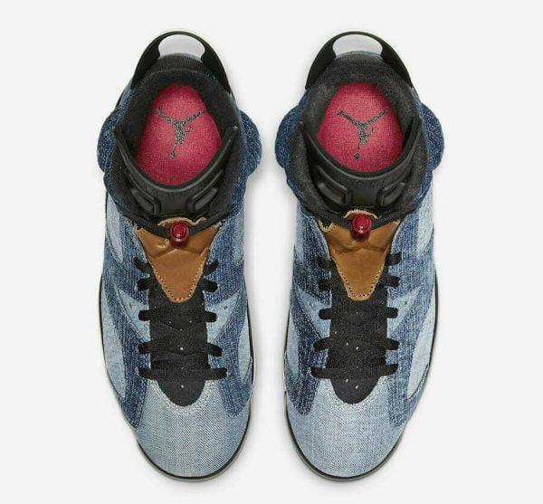 Buy Nike Air Jordan Retro 6 Washed Denim Sail Red Blue CT5350-401 GS Size 7Y Youth