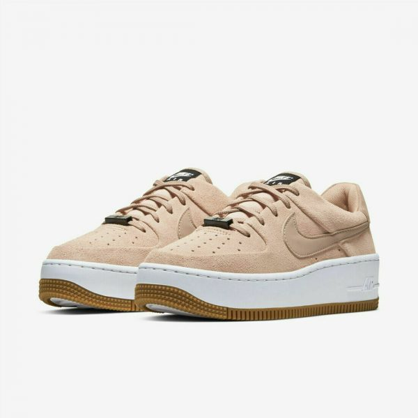 Buy Nike Women's Air Force 1 Sage Low Casual Shoe 'Beige Suede' White AR5339-203 NEW