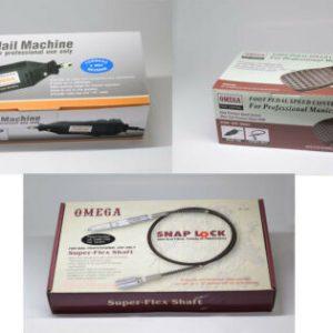"Buy OMEGA Rotary Super Flex Shaft (SNAP-LOCK) Nail Drill 3/32"" Shank Set"