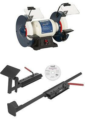 Buy ONEWAY WOLVERINE Lathe Tool Grinding Jig on RIKON 8 inch Low Speed Bench Grinder