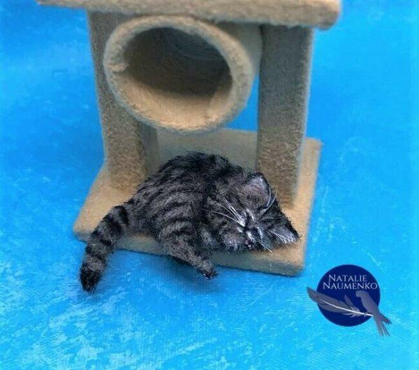 Buy OOAK kitten cat handmade realistic dollhouse pet ~IGMA ARTISAN Natalie Naumenko~