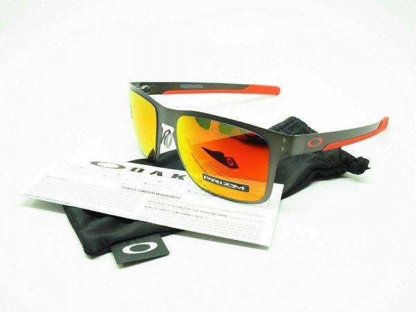 Buy Oakley HOLBROOK METAL POLARIZED Sunglasses OO4123-2255 Gunmetal W/ PRIZM Ruby
