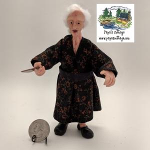 Buy Old Italian/Greek woman for 1:12 scale dollhouse, grandmother - retiring soon!
