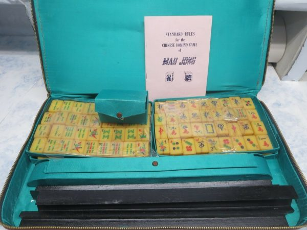Buy Opened Package Compete 1960's Mah Jong Board Game Bakelite Set 144 Tiles