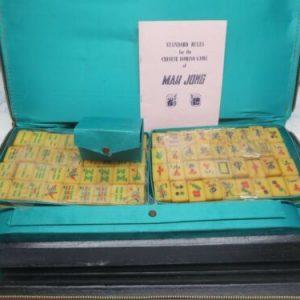 Buy Opened Package Compete 1960's Mah Jong Board Game Bakelite Set 144 Tiles