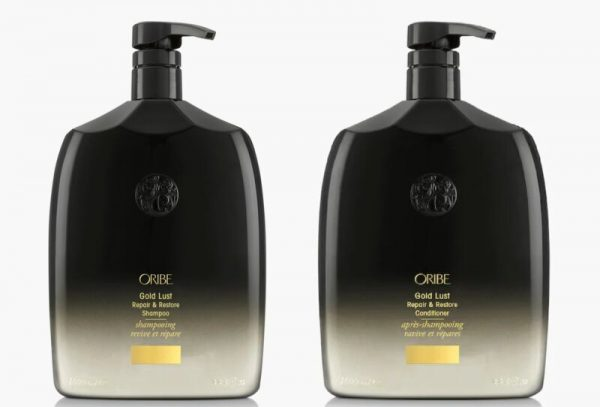 Buy Oribe Gold Lust Repair & Restore Shampoo & Conditioner Liter Duo set With Pump