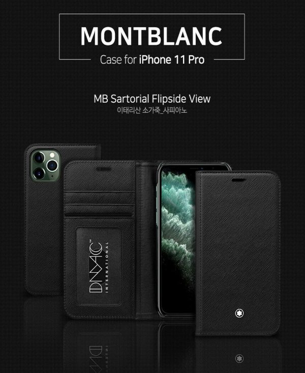 Buy Original Montblanc Italian Calf Skin Leather Flip Wallet Cover Case iPhone 11Pro