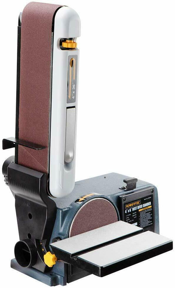 Buy POWERTEC BD4600 Belt Disc Sander For Woodworking | 4 In. x 36 in. Belt Sander