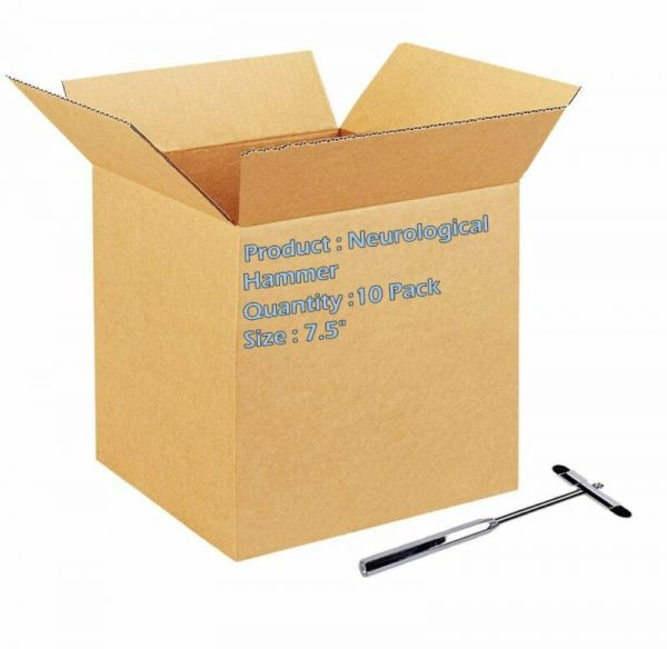 """Buy Pack of 10 Neurological Reflex Hammers with Built-In Brush 7.5"""" Buck"""